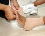 Treating ankle sprain
