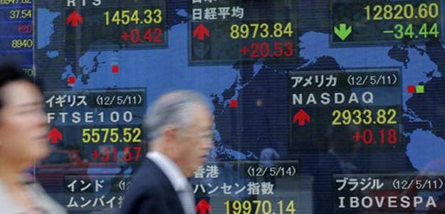 Asian shares ease on uncertainty over Greek bailout, US fiscal cliff