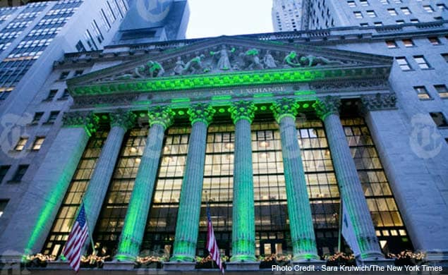 Outside the New York Stock exchange in New York, Dec. 31, 2012. Economists forecast that an increase in payroll taxes and contin