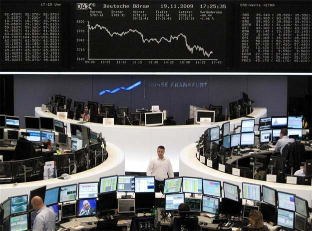 World shares extend rout as Europe recovery hopes dim