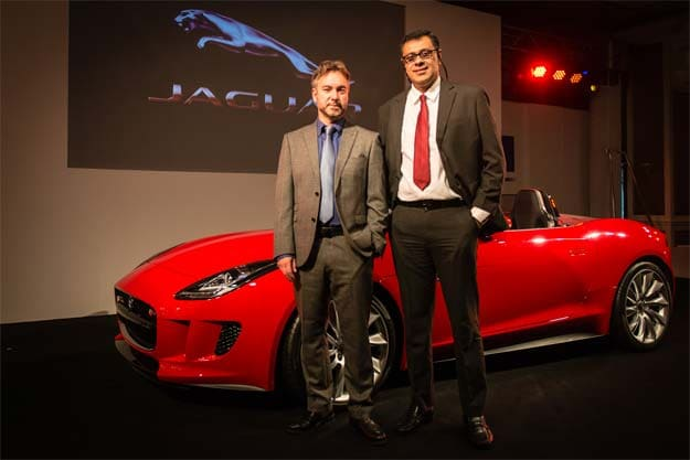 Matthew Beaven, chief designer-exteriors advanced design, Jaguar, and Rohit Suri, vice-president, Jaguar Land Rover India, at th