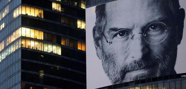 And former ceo steve jobs on a skyscraper in moscow photo reuters
