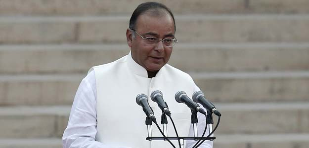 Arun Jaitley is administered oath of office by President Pranab Mukherjee as a cabinet minister