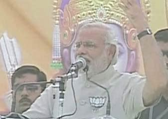 Faijaabaad Mein Narendra Modi Ke Manch Par Mandir Ki Tasveer, Chunaav Aayog Ne Maangi Report