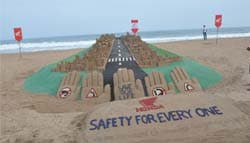 Honda Spreads Road Safety Awareness Through a Sand Sculpture