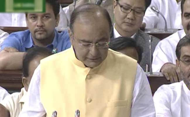 Finance Minister Arun Jaitley presents the Union Budget in Parliament