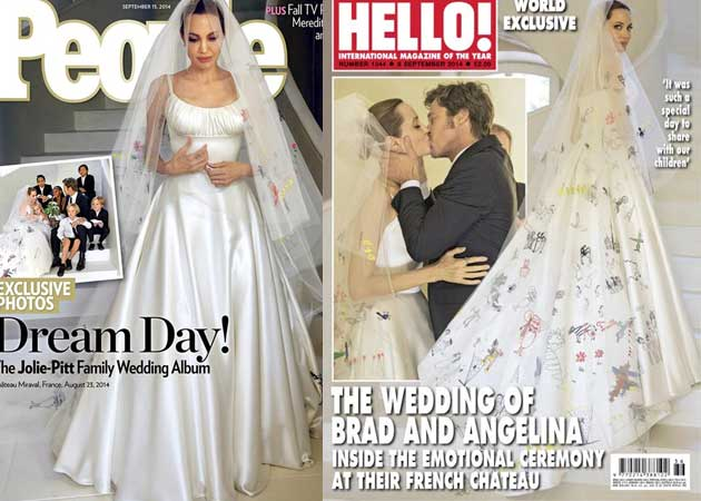 Pictures from angelina jolie wedding dress