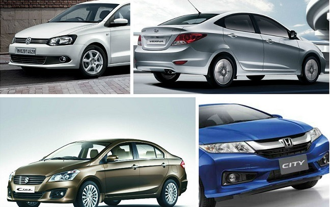 Maruti Ciaz Vs Honda City Vs Hyundai Verna Vs Vw Vento