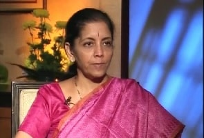 File photo of trade minister Nirmala Sitharaman