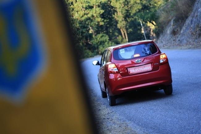 Datsun GO+ rear profile
