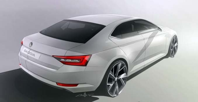 New Sketch Of The Skoda Superb Reveals Rear Design