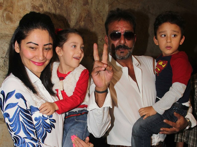 out on parole sanjay dutt watches pk with family ndtv