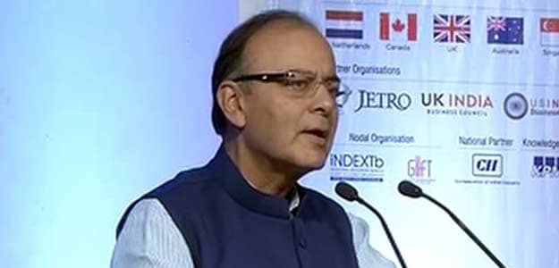 Finance Minister Arun Jaitley at Vibrant Gujarat summit
