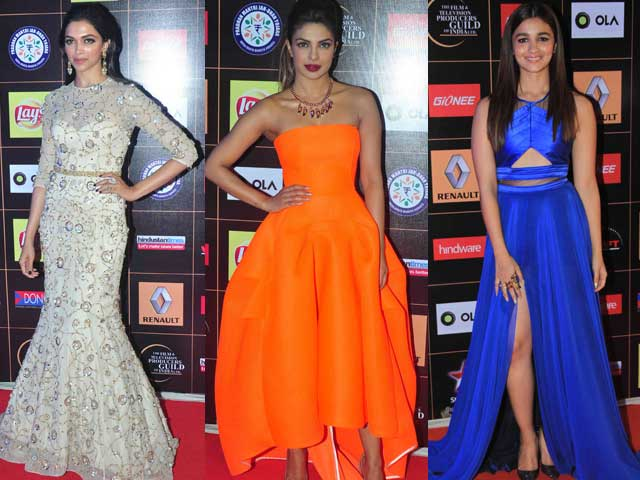 Deepika Padukone, Priyanka Chopra, Alia Bhatt Shine at Star Guild.