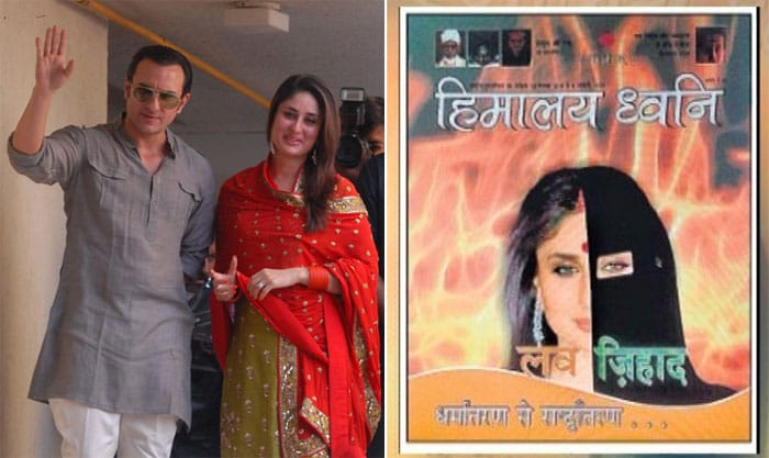 ... made the centre of a campaign against 'love jihad' run by the Durga Vahini, the women's wing of the Vishva Hindu Parishad (VHP). A photo of Kareena's ...