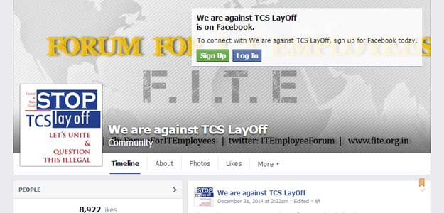 Facebook Page of 'Forum for I.T. Employees'