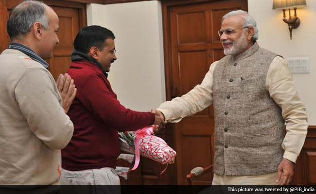 Arvind Kejriwal, Delhi Chief Minister-Designate, Meets PM Narendra Modi