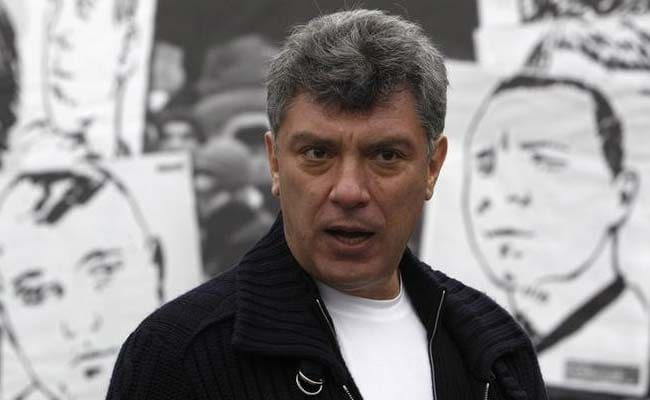 Boris nemtsov during a rally in moscow on april 6, 2013. (reuters