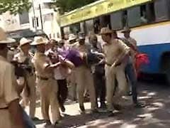 Protests Turn Violent in Karnataka Over IAS Officer's Death; Rajnath Says Open to CBI Probe
