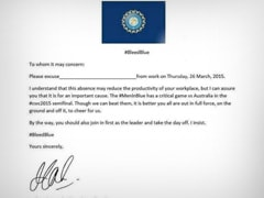 Bunking Work for the Match?  Use This Letter 'Signed by MS Dhoni'