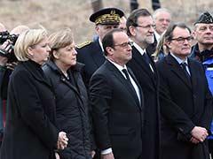 Hollande, Merkel, Rajoy Arrive Near French Alps Crash Site