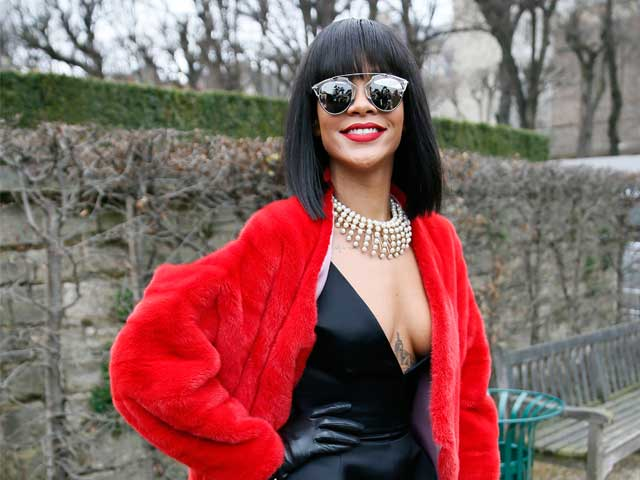 cd0af803078b Rihanna at Christian Dior s 2014 2015 Autumn Winter ready-to-wear  collection fashion show (Image source  AFP)
