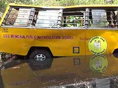 3 Dead as School Van Plunges Into Canal in Tamil Nadu
