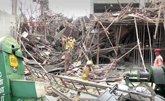 5 Dead, Several Injured as A Portion of an Under Construction Building Collapses in Tamil Nadu