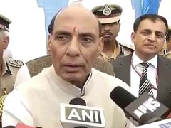 Home Minister Rajnath Singh Sits in Dark Hall at Border Security Force Event