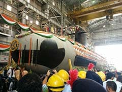 Scorpene Submarine, Built at Mumbai Docks, Launched Into Water