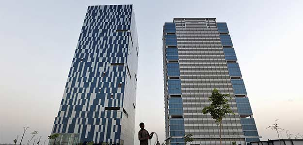 Office buildings at the Gujarat International Finance Tec-City (GIFT) in Gandhinagar, Gujarat. (Reuters)