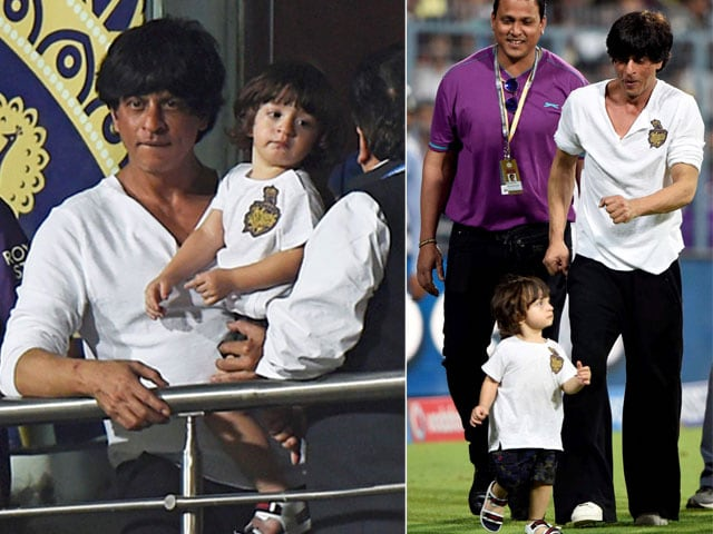 Shah Rukh Khans Son AbRam Learns to Say KKR - NDTV Movies