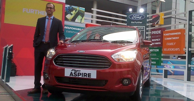 Ford Figo Aspire Makes its Public Debut