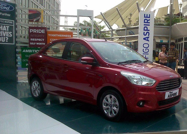 Ford Figo Aspire side profile