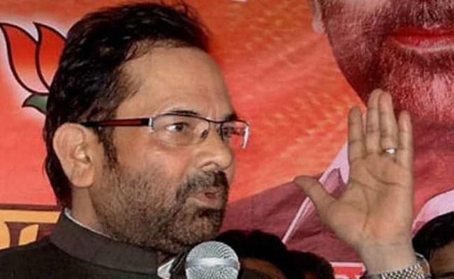 BJP To Go Solo In 2017 Uttar Pradesh Assembly Polls: Mukhtar Abbas Naqvi