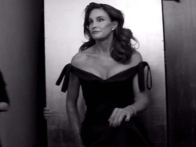 Caitlyn Jenner in a still from the Vanity Fair covershoot. Image