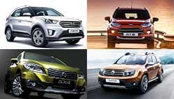 Hyundai Creta vs Maruti Suzuki S-Cross vs Renault Duster vs Ford EcoSport: Specifications Comparison