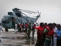 Dramatic Navy Rescue After Distress Signals From Ship Off Mumbai