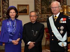 President Pranab Mukherjee Arrives in Sweden