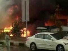 Truck Catches Fire, Sparks Blaze in Punjabi Bagh