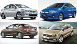 2015 Volkswagen Vento vs Maruti Suzuki Ciaz vs Hyundai Verna vs Honda City: Specification Comparison
