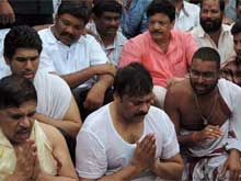 Chiranjeevi Takes Dip in the Godavari at Pushkaralu Festival