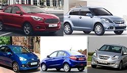 Ford Figo Aspire vs Maruti Suzuki Dzire vs Tata Zest vs Hyundai Xcent vs Honda Amaze