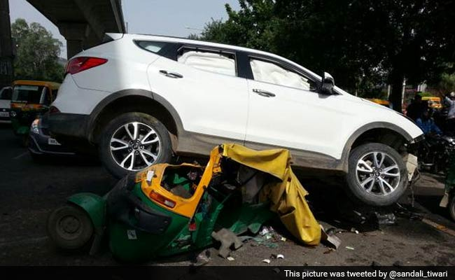 SUV, Fired at in Gurgaon, Flipped Over Onto Auto. Nobody Killed, Say Cops