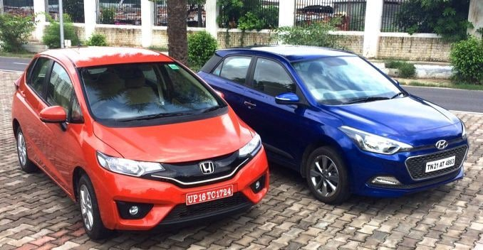 comparison honda jazz vs hyundai i20 ndtv carandbike. Black Bedroom Furniture Sets. Home Design Ideas