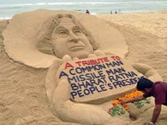 Sand Art Tribute to APJ Abdul Kalam