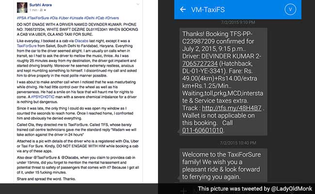 'His Smile Will Haunt Me': Delhi Woman Accuses TaxiForSure Driver of Obscene Act