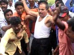 Congress Lawmaker Tears off Shirt to Make a Point in Bengal