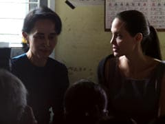 Angelina Jolie, Aung San Suu Kyi Meet Women Garment Workers in Myanmar