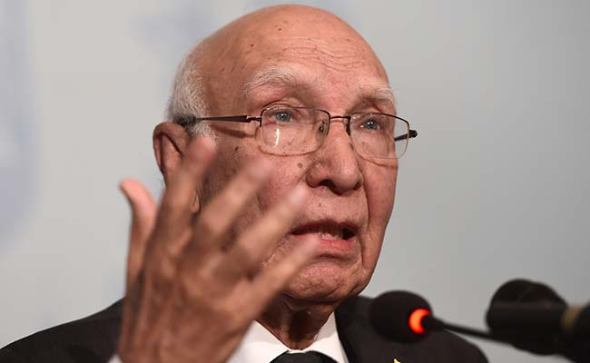 Indo-Pak Foreign Secretary-Level Talks Are Intact, Says Sartaj Aziz